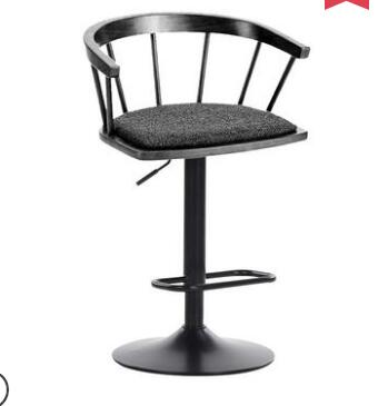 Solid Wooden Bar Chair, High Stool, Revolving Bar Chair, Fashionable And Simple Windsor Chair, Household Lifting Chair