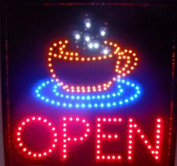 CHENXI hot sale 19x19 Inch Graphics indoor  Led coffee Business Shop Open Neon sign