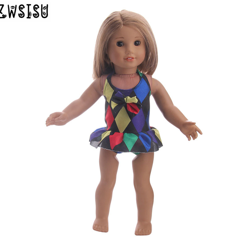 2018 Two Style Bathing Suit Clothes Fits 43cm For 18inch American Doll Giving Children The Best Gift 100% Guarantee