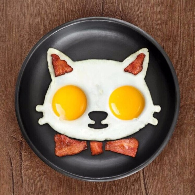 Hot Kitchen Silicone Cats Egg Shaper Cats Fried Eggs Mould Cute Interesting Mould
