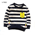 Children's long-sleeved T-shirt baby clothing boys Boy Stripe T-shirt Baby boy clothes Baby hoodie