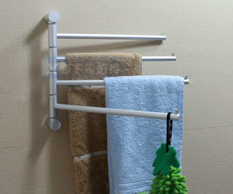 Space Aluminum Towel Bar Rotating Bathroom Retractable Towel Rack In Towel  Bars From Home Improvement On Aliexpress.com | Alibaba Group
