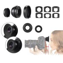 1.51X 고정 초점 6 뷰 파인더 마운트베이스 아이피스 아이 컵 돋보기 Canon Nikon Sony Pentax Olympus Fujifilm 등 DSLR 카메라