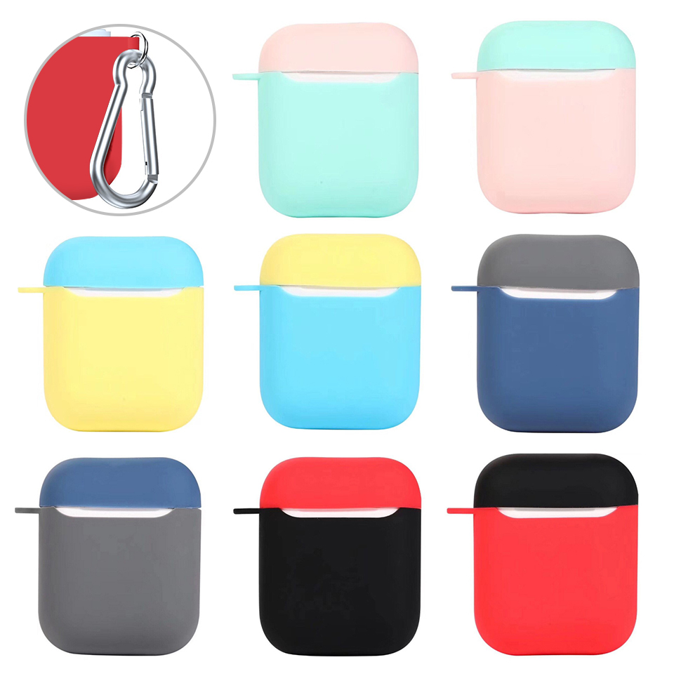 Ultra thin Bag Bluetooth Wireless Earphone Case For Apple AirPods TPU Silicone Charging Headphones Cases for Airpods Cute Cover
