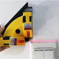 Прямоугольный 90 градусов вертикальный горизонтальный лазерный проектор квадратный уровень лазерный уровень инструмент для измерения