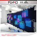 Roll up P10 2x6m flexible/soft rechargable led light stage led screen for concert