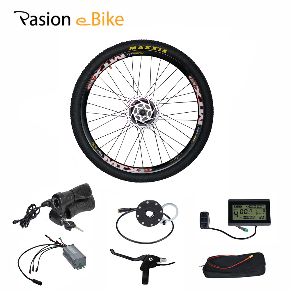 PASION E BIKE 48V 500W Bafang Hub Motor Electric Bicycle E Bikes Conversion Kit for 24 26 700C 27.5 29 Rear Wheel pasion e bike 48v 500w electric fat bikes bicycle gear hub motor conversion kit bafang 190mm 26 rear wheel 80mm rims