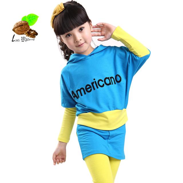 2017 nova primavera e outono meninas esporte dress & leggings marca terno ocasional roupa dos miúdos do bebê roupas fashion girls criança conjuntos