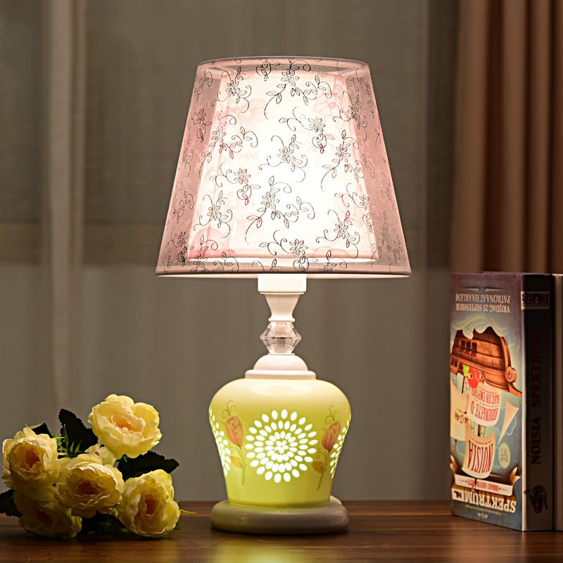Table Lamp Bedroom Bed Energy Saving Creative Ceramics ...