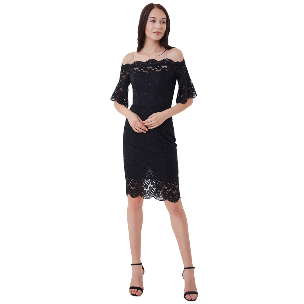Aliexpress.com : Buy Womens Off Shoulder Floral Lace Dress