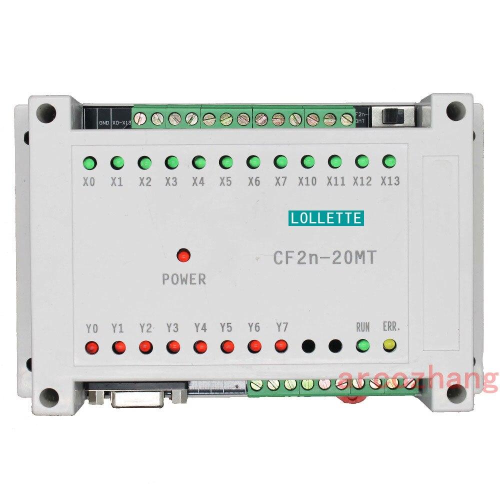 CF2N FX2N 20MT contrôleur logique programmable 12 Entrée 8 Transistors De Sortie contrôleur plc automatisation plc système
