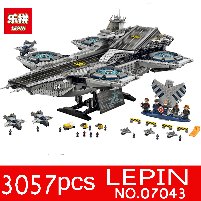 LEPIN 07043 3057Pcs Super Hero Series The SHIELD Helicarrier Model Building Blocks Bricks Toys for Children Compatible 76042 clevo w550eu w540bat 6 6 87 w540s 4271 6 87 w540s 4u4 6 87 w540s 4w42 6 87 w540s 427 battery