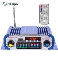Kentiger hy601 USB FM audio 12 V LED estéreo Amplificadores Radios MP3 altavoz sonido led audio reproductor de música mini HiFi Amplificadores