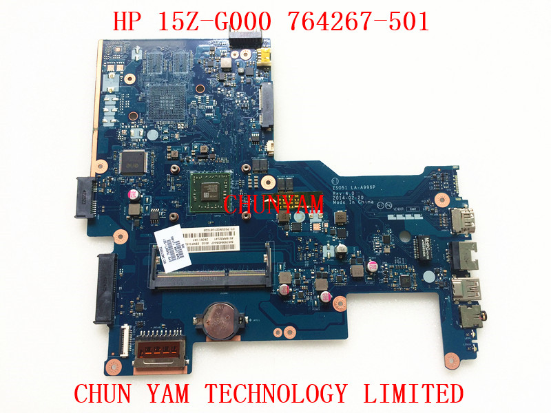 ФОТО 764267-501 For HP 15Z-G000 15-G Laptop Motherboard LA-A996P REV:4.0 764267-001 E1-6010 mainboard 100% Tested 90 Days Warranty