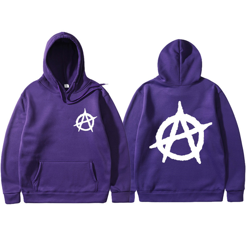 2019 New Anarchy Punk Rock Deesign Patchwork Style Non Sweatshirts Vintage Fashion Spring Autumn Hoodies Men