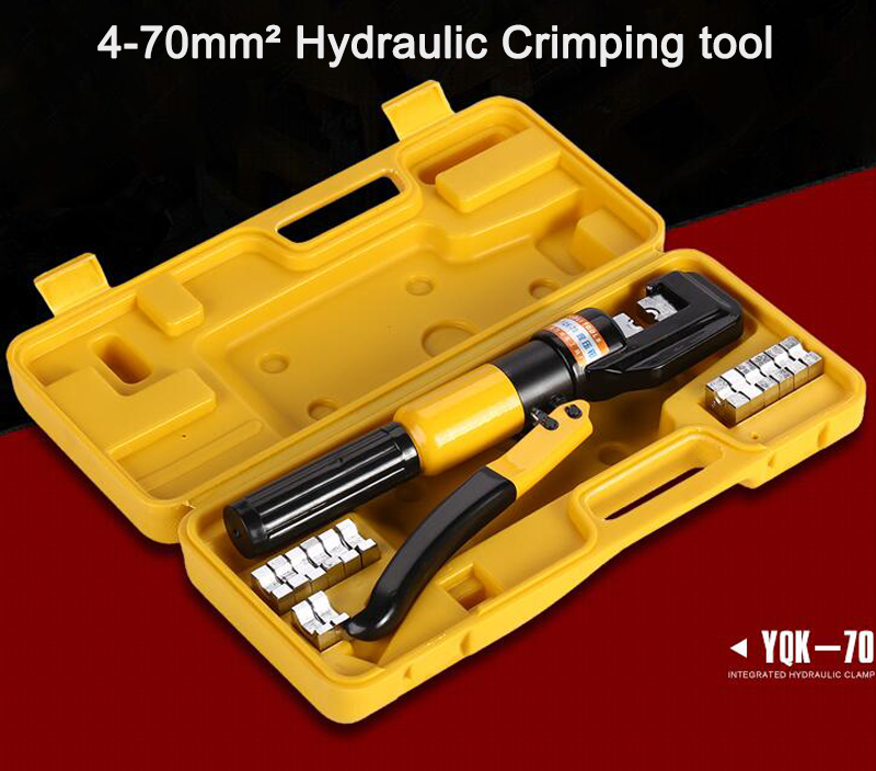 1PCS 4-70mm Hydraulic Crimping Tool YQK-70 hydraulic knockout tool hydraulic hole macking tool hydraulic punch tool syk 15 with the die range from 63mm to 114mm