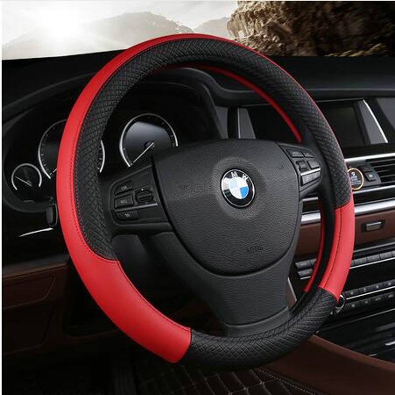 d3fec11a3739 ᗕPU Leather Universal Car Steering-wheel Cover 38CM Car-styling ...