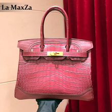 2017 women's luxury alligator leather handbag