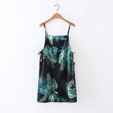 Wedorate Summer Style Women's Dresses Tropical Flower Print Mini Beach Dress for Women Sexy Spaghetti Strapped Dress RA5388
