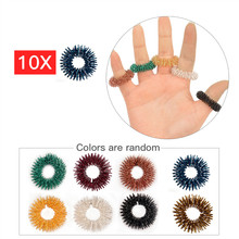 10pcs/set Stainless Steel Finger Massage Ring Steel Health Care Lady Be