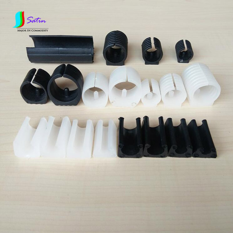 Wholesale PE Plastic Cylindrical White And Black Opening Sofa/Desk/computer Chair Foot Pads,DIY Accessory Foot Plug S0175L
