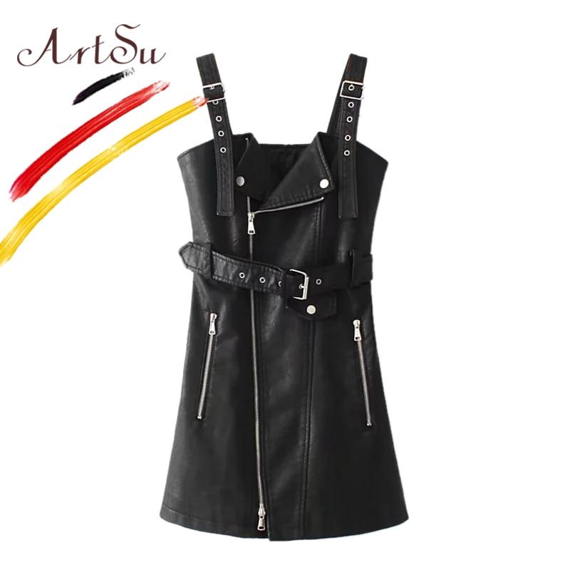 ArtSu Koreja Ženska haljina od špageta s trakom Vestidos 2017 jesen - Ženska odjeća - Foto 3