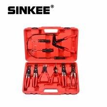Ensemble de 9 pinces à anneau de serrage pivotant, outil pour câble flexible, mécanique et pièces auto, pour retirer les colliers, SK1002