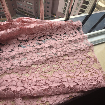 1Piece/lot High Quality Pink Italian heavy hollow embroidery eyelashes Cord lace fabric romantic floral skin lace
