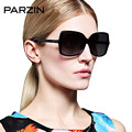 Parzin Fashion Sunglasses Women Vintage Rivet Oversized Polarized Female Sun Glasses Oculos De Sol Gafas Black With Case 9272