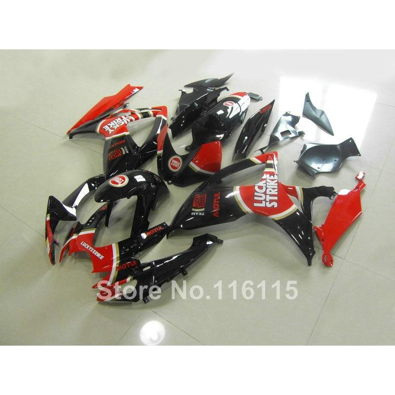 100% NOUVEAU carénage kit pour SUZUKI GSXR moule D'injection 600 750 K6 K7 2006 2007 noir rouge LUCKY STRIKE carénages mis GSXR600 GSXR750