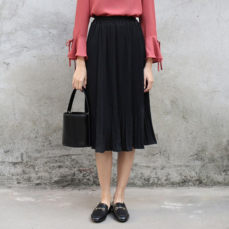 Popular Black Chiffon Skirt-Buy Cheap Black Chiffon Skirt lots ...