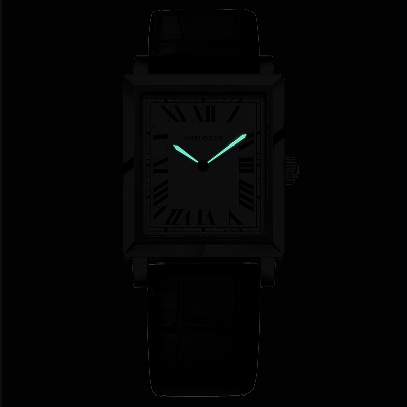 Image 5 - Agelocer Top Brand Luxury Dress Watch Luminous Quartz Watches Leather Strap Watch Steel Watch 3403A1-in Women's Watches from Watches