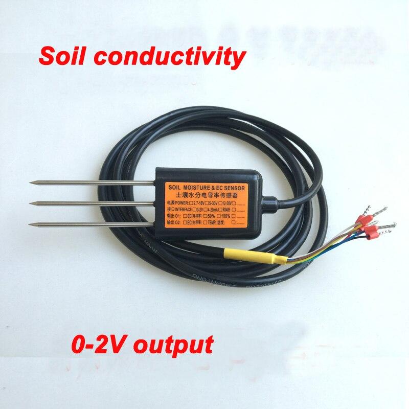 Livraison gratuite EC10 sortie 0-2 V mesure de conductivité du sol capteur de conductivité ec de qualité