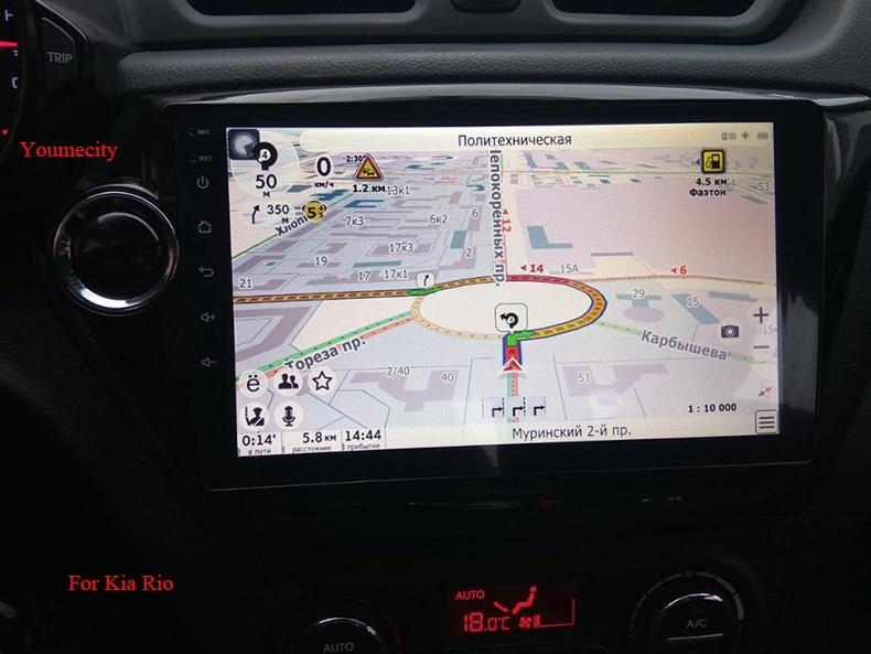 imágenes para 2G RAM Android 6.0 jugador Del Coche dvd gps para Kia rio k2 2010 2011 2012 en el tablero de radio reproductor de vídeo + 1024*600 de Resolución