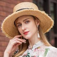 2018 New Spring Summer Cap Foldable Wide Large Brim Sun Hat Beach Hats for Women Straw Hat L7084