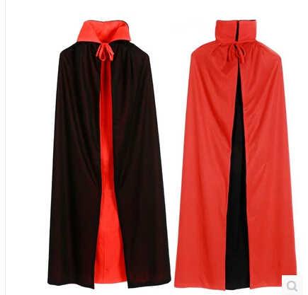 شحن مجاني الكبار ساحرة طويلة الأرجواني الأخضر الأحمر الأسود هالوين عباءة هود والرؤوس هالوين ازياء للنساء الرجال