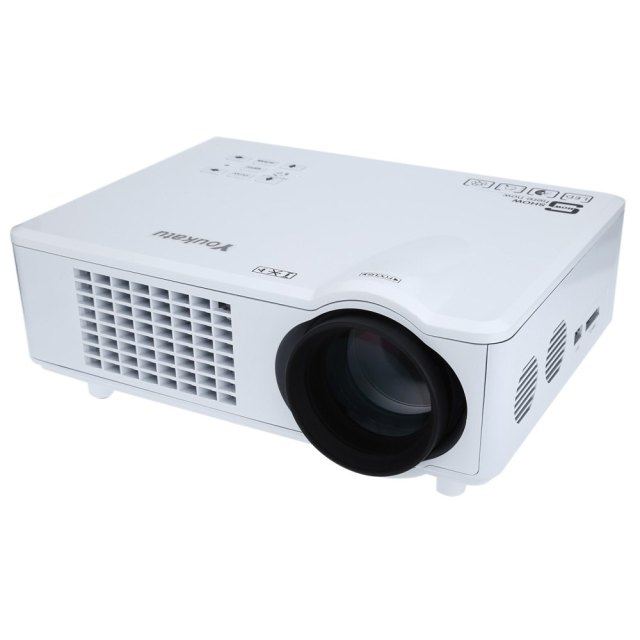High Definition Convenient Operate Youkatu T928 Home Theater LCD Projector 3000LM 1280 x 768 Pixels FHD 1080P Media Player