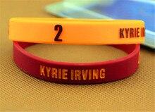 1 pairs Poder Ion Balance de energía del Holograma Pulseras pulseras De Silicona De Moda con LA estrella de LA NBA Kyrie Irving logo
