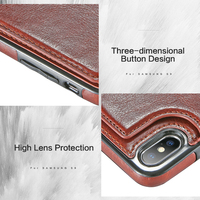 Premium Vintage Leather iPhone Wallet Case