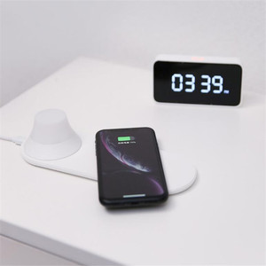 Image 3 - Yeelight Drahtlose Ladegerät mit LED Nacht Licht Magnetische Anziehung Schnelle Lade Für iPhones Samsung Huawei P40 handys
