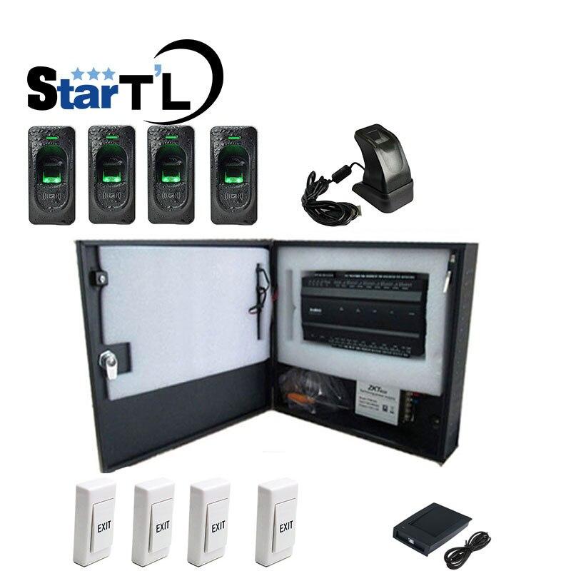Four-door Two-Way Fingerprint Access Control Panel Inbio460 Biometric Access Control kit with FR1200 Fingerprint стоимость