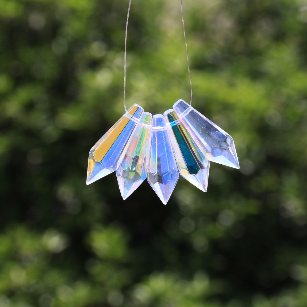 5Pcs Aurora Rainbow Suncatcher Chandelier Crystal Lamp Glass Prism 1.5inch Pendant