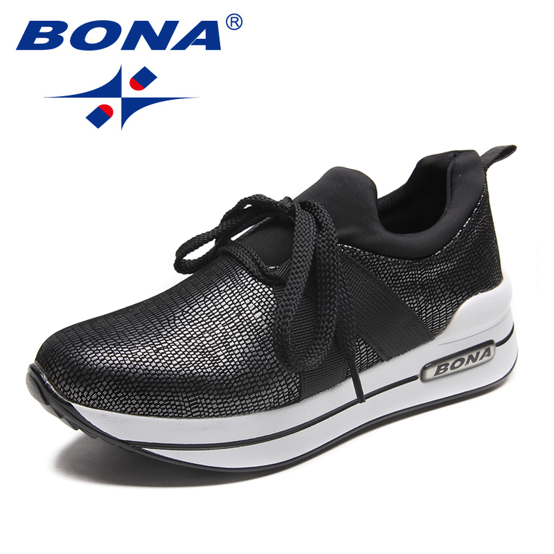BONA New Arrival Typical Style Women Walking Shoes Lace Up Women Athletic Shoes Outdoor Physical Exercise Jogging Sneakers