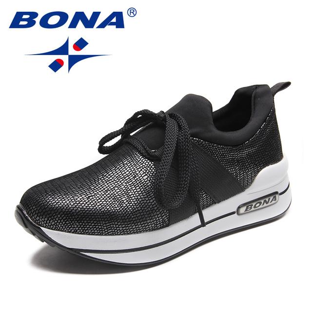 Nueva llegada de BONA zapatos para caminar de estilo clásico para mujer zapatos atléticos de encaje para ejercicio físico al aire libre zapatillas para correr