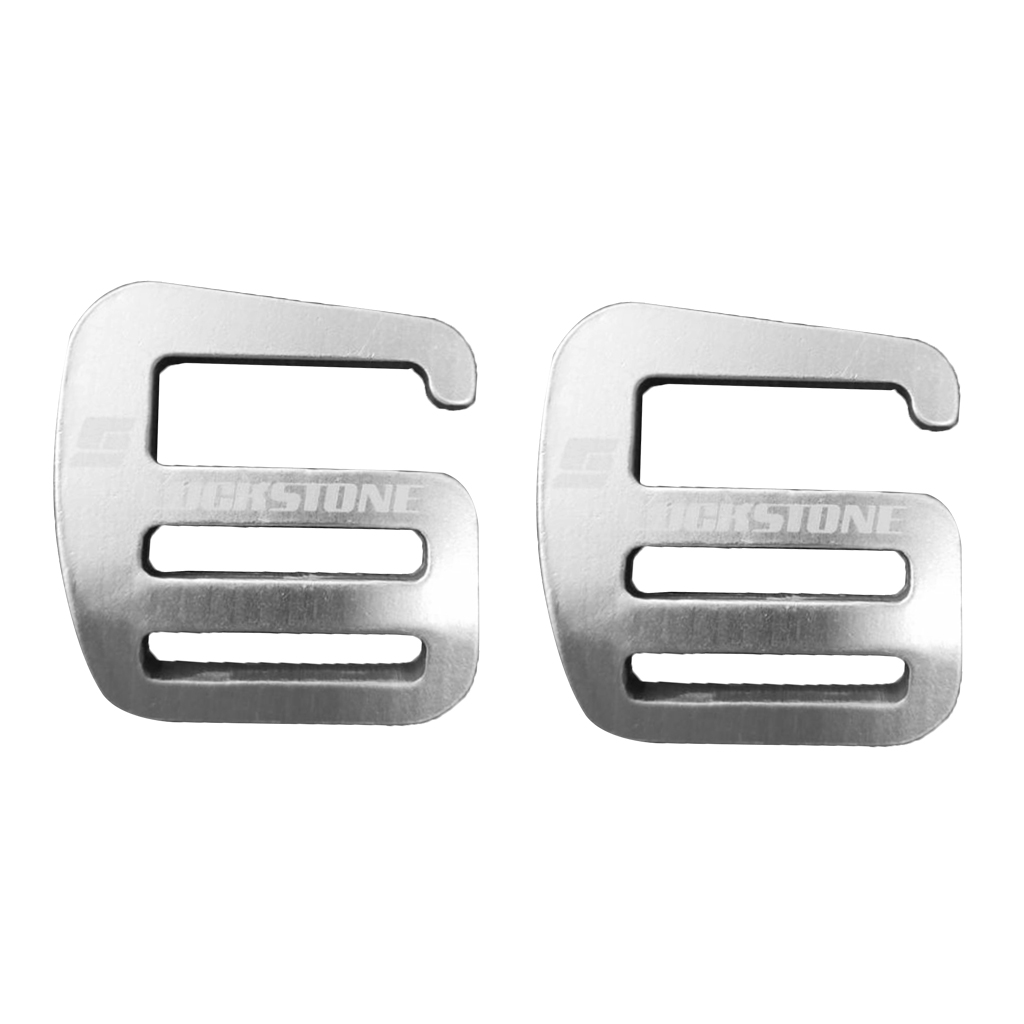 2Pcs G Aluminium Alloy Hook Webbing Quick Release Buckle For Outdoor Carabiners Backpack Bag Parts Luggage Strap Webbing 25mm