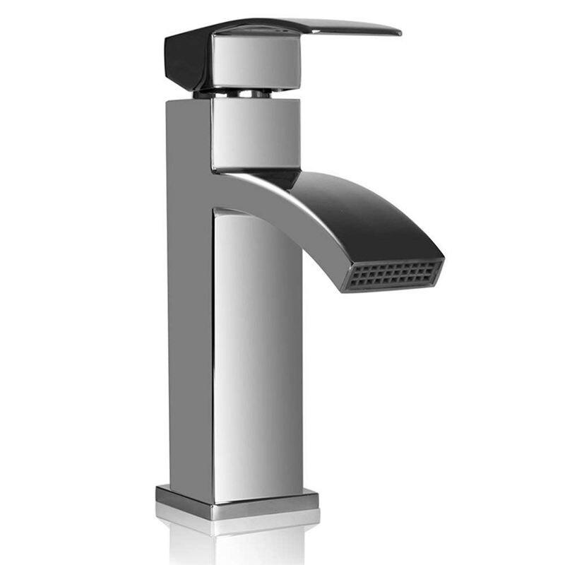 Waterfall Basin Sink Taps Mixer Tap Monobloc Single Handle Faucet Bathroom