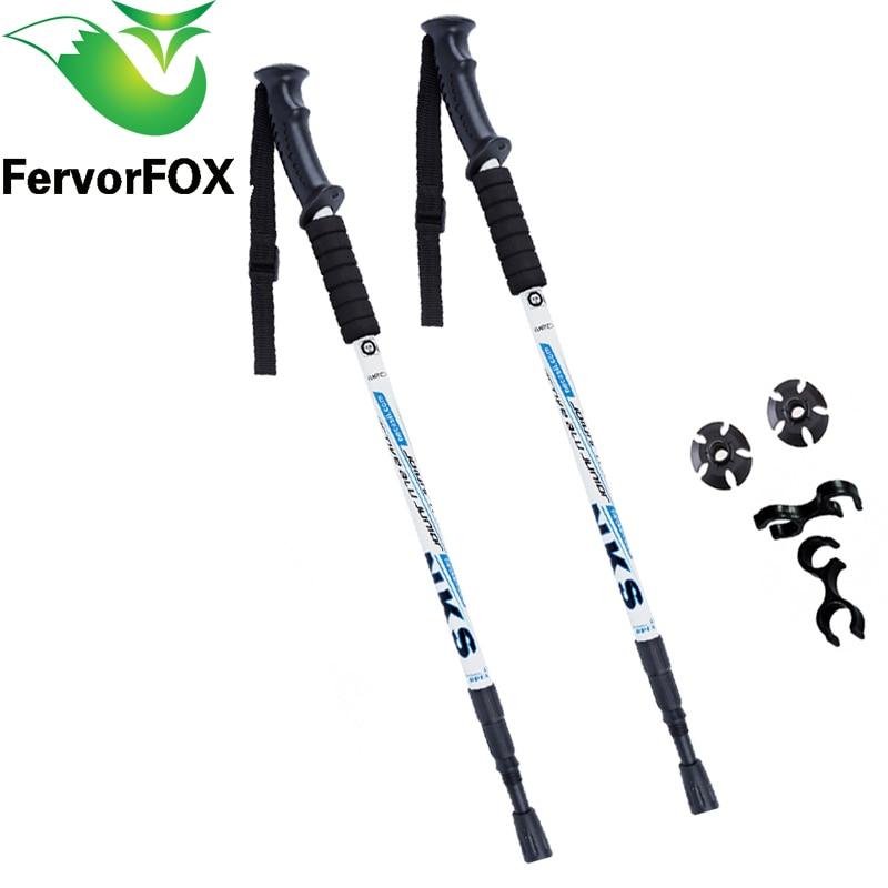 Flexible Trekking Climbing Poles Abrasion Resistant Tungsten Steel Stick Tip GN