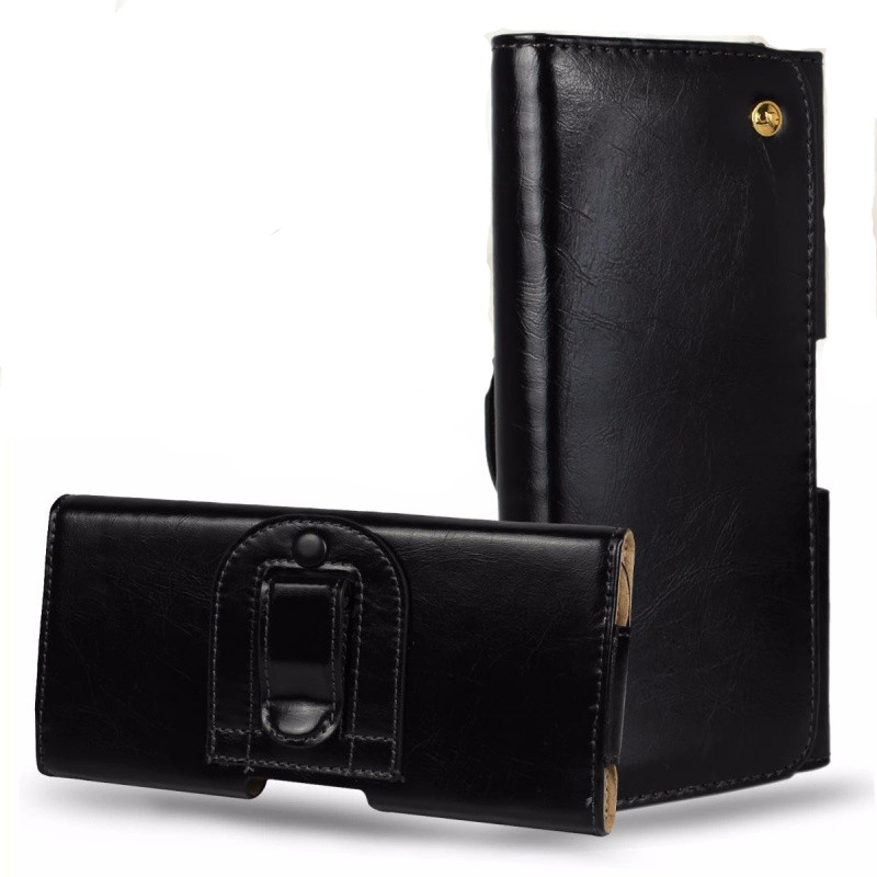 Universal Genuine Leather Belt Clip Holster Pouch Bag Case