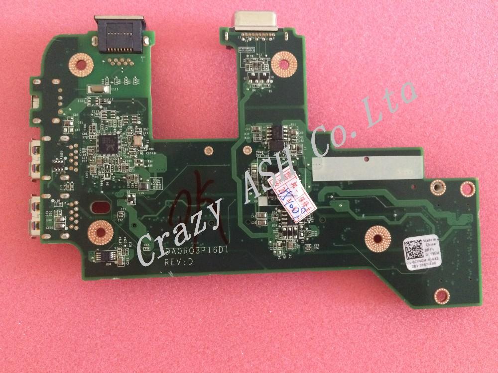 For Dell inspiron N7110 17R Vostro 3750 0NVJ4 CY4GM USB Board Ethernet NIC Audio WIFI Lan Card DA0R03PI6D0 REVD 3