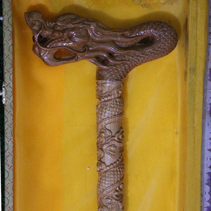Dragon - Hand Carved Real wood Walking Stick, Canes of Chinese Royal Diameter 3cm Length 87cm Best Gifts For ElderDragon - Hand Carved Real wood Walking Stick, Canes of Chinese Royal Diameter 3cm Length 87cm Best Gifts For Elder